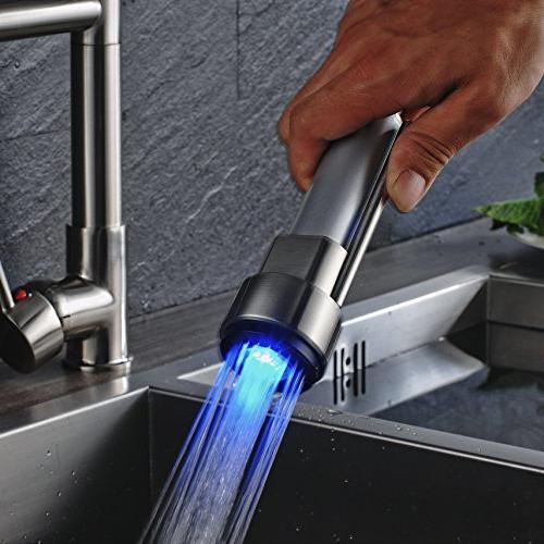 Rozin Single Hole Kitchen Sink Light Sprayer Tap Brushed
