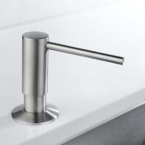 Avola Head Kitchen Sink Dispenser,Brushed Nickel