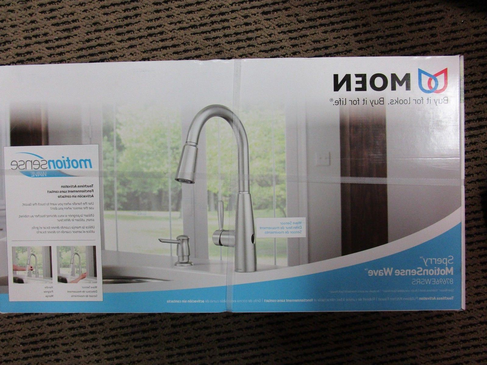 Moen Sperry MotionSense Wave Pull-Down Kitchen Faucet Stainl
