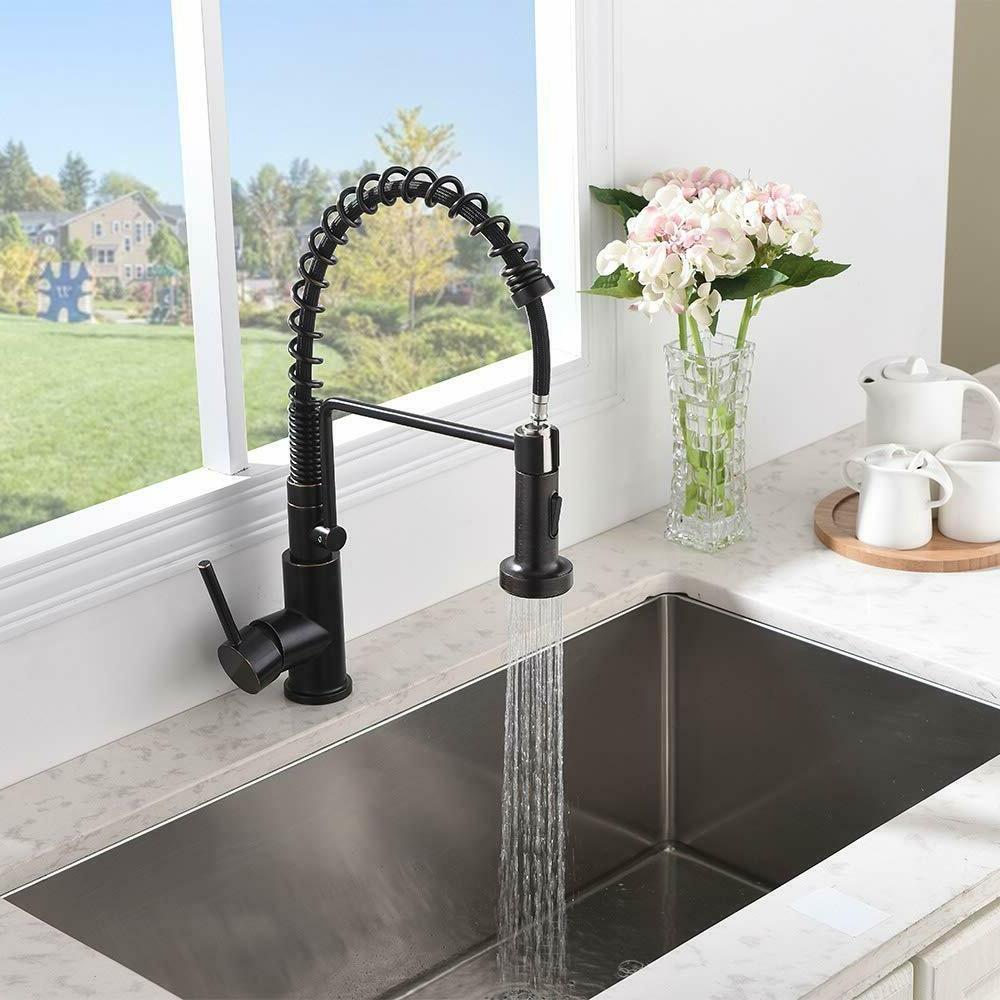 Spring Single Down Oil Bronze Kitchen Faucet