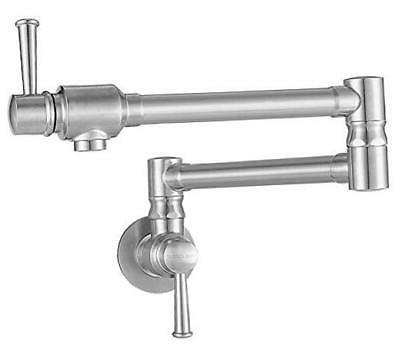 stainless steel pot filler faucet commercial wall