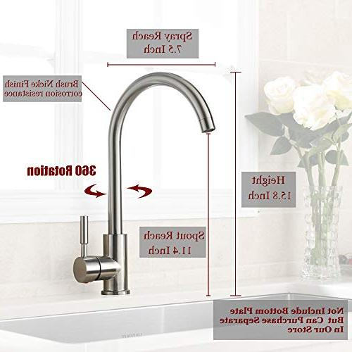 VAPSINT Good Cold Mixer Stainless Single Handle Brushed Steel Kitchen Sink Installation Brushed Nickel Kitchen Faucets
