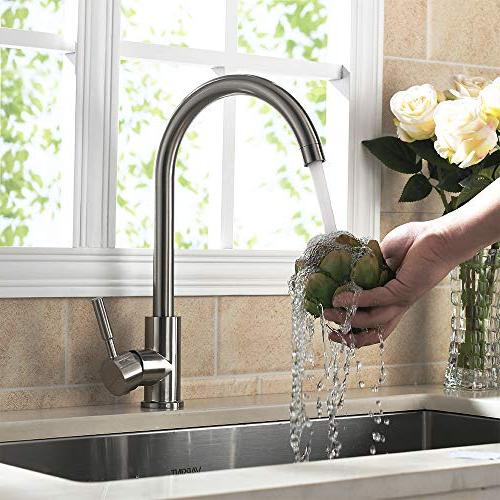 VAPSINT Degree Swivel Good Modern Cold Single Kitchen Faucet, Easy Installation Faucets
