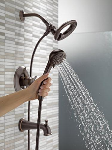 Delta Faucet 17 Series and Shower Trim 2-Spray 2-in-1 Held Shower Hose, Bronze