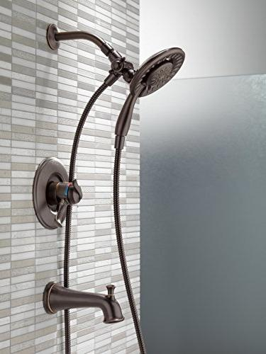 Delta Faucet Series Dual-Function Tub Shower Trim Held Head Hose, Bronze