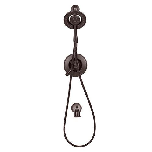 Shower 2-Spray 2-in-1 Hand Held Shower Head Hose, Venetian Bronze T17494-RB-I