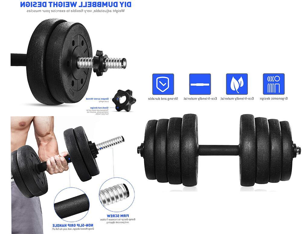 Total 66 LB Gym Plates Workout