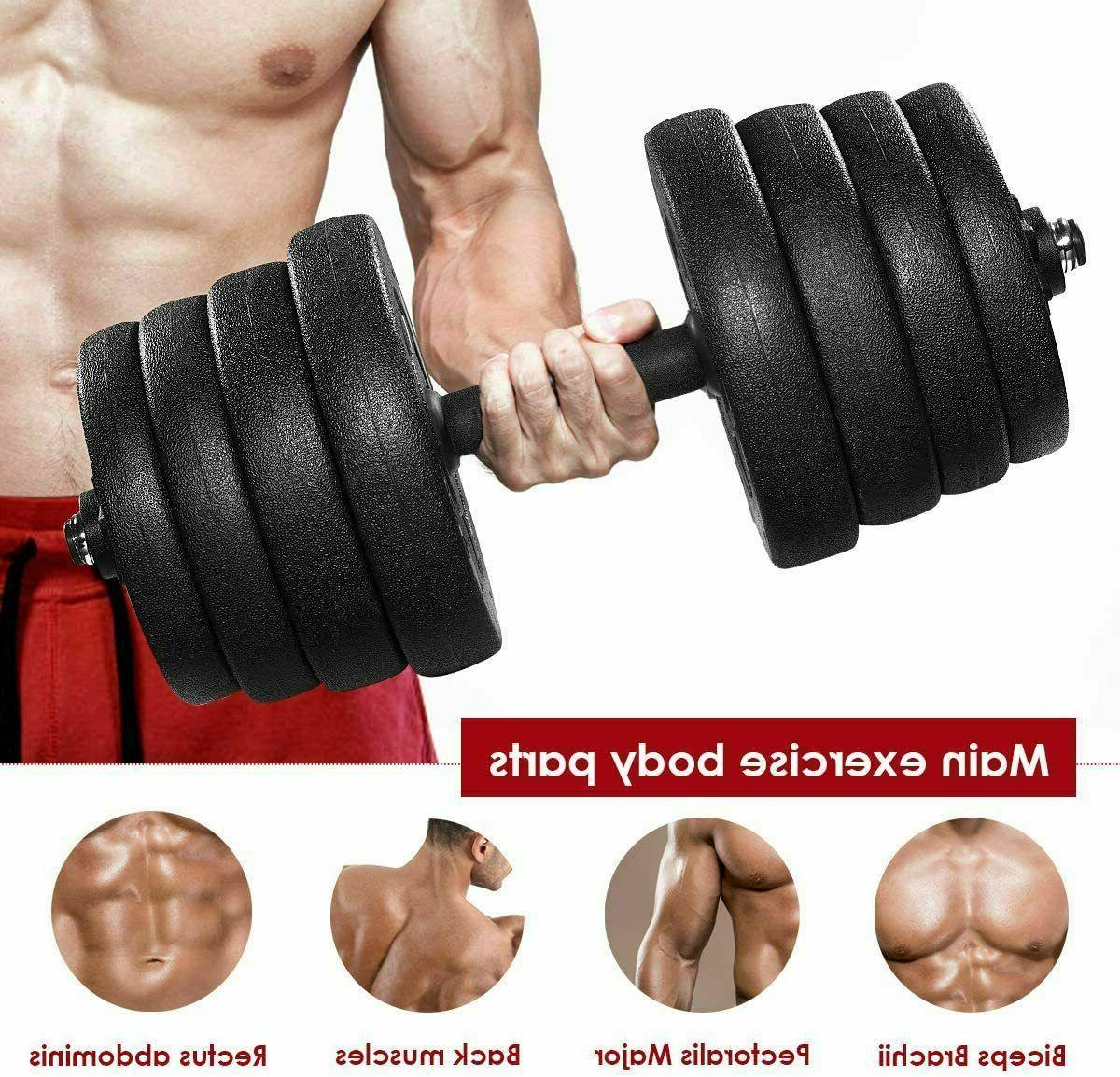 Total Dumbbell Set Adjustable Cap Gym Barbell Body Workout