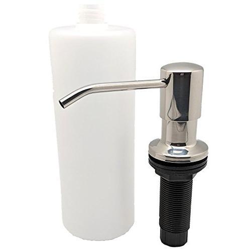 Ultimate - Best Stainless Steel Sink Soap Dispenser 17 Ounce Easy - Well Built