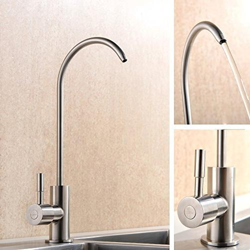 VAPSINTÂ Best Handle Hole Reverse Filter Purifier Faucet, Easy Brushed Nickel Sink
