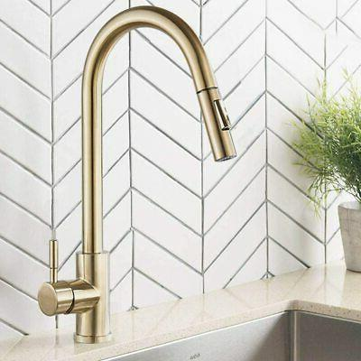 VAPSINT Steel Kitchen Faucet Lead-Free