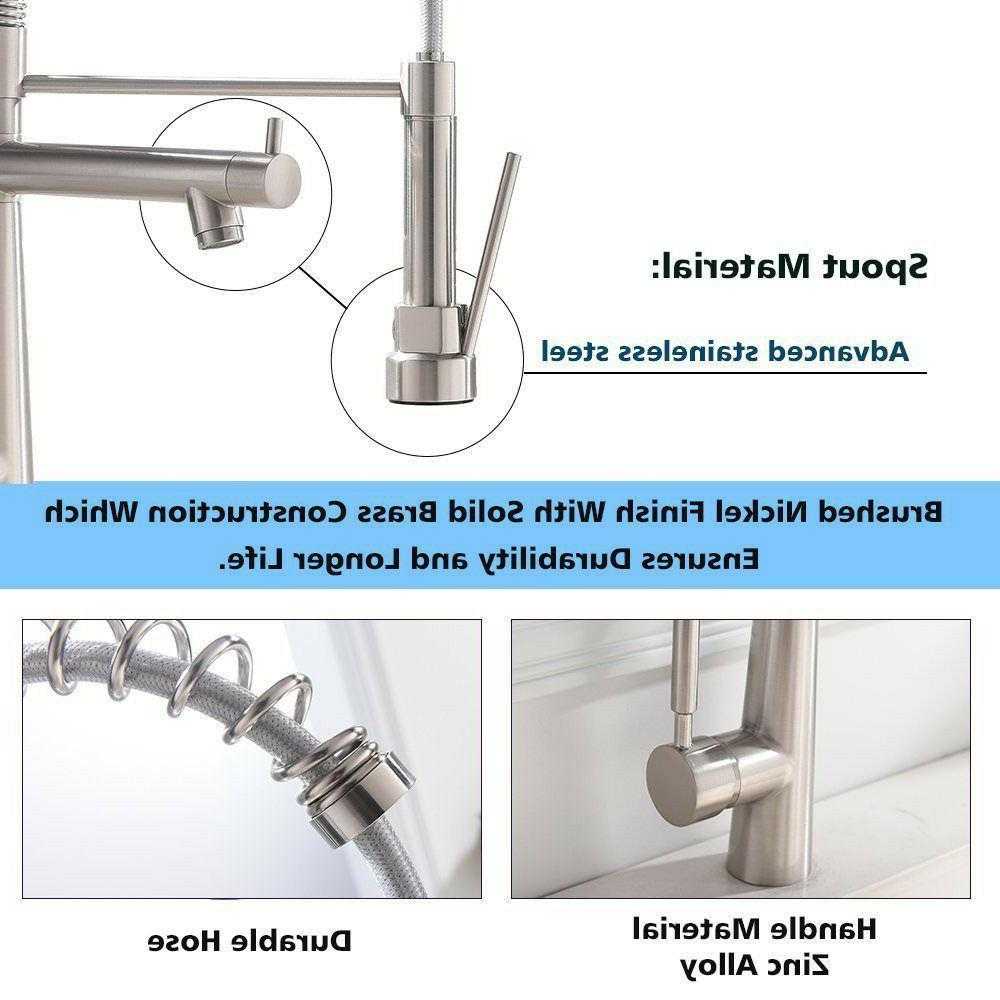 VAPSINT High Arch Single Stainless Steel Kitchen Faucets