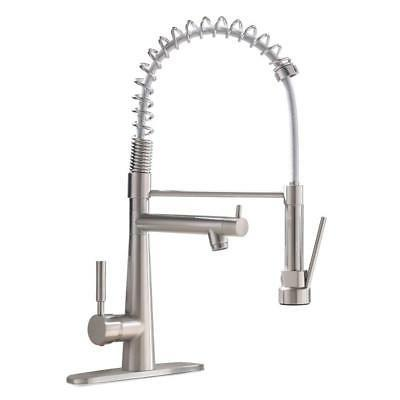 VAPSINT Modern Commercial Lead-Free Stainless Kitchen Faucet