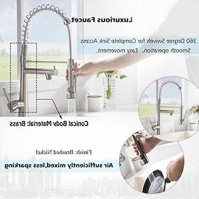 VAPSINT Modern Commercial Lead-Free Stainless Steel Kitchen Faucet