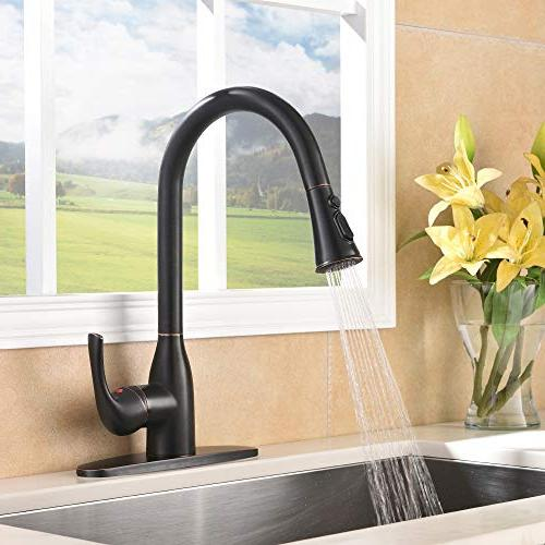 VAPSINT Lead-Free Oil Faucet, Single Handle Brass Kitchen Deck