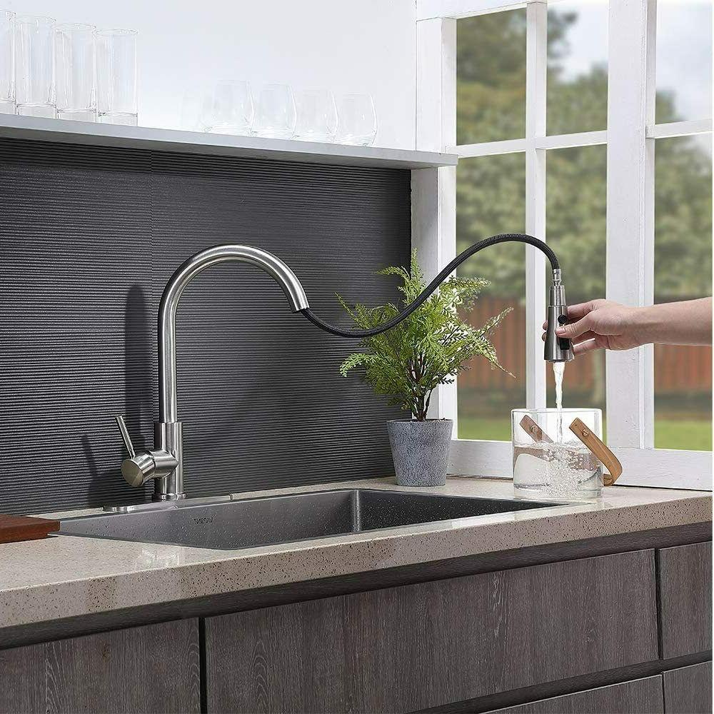 WEWE Nickel Faucet Sink Pull Cover