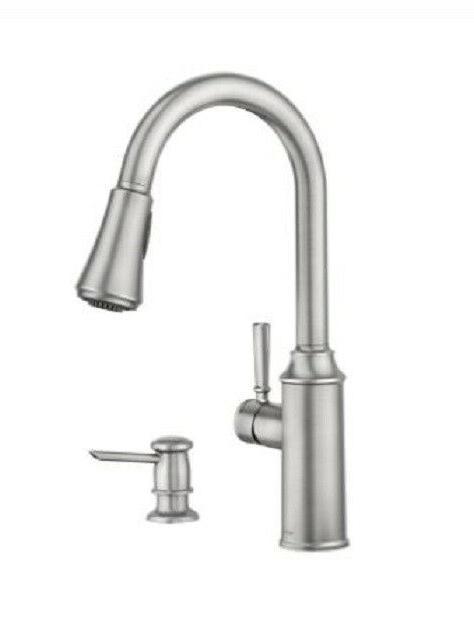 zabelle 87126srs pulldown kitchen faucet spot resist