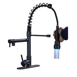 Rozin LED Light Sprayer Kitchen Sink Faucet Spring Mixer Tap