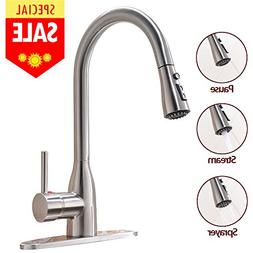 VESLA HOME Modern Commercial Stainless Steel Single Lever Pa