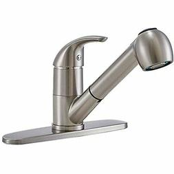 Modern Single Handle Stainless Steel Brushed Nickel Pull Out