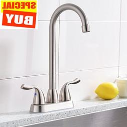 Friho Modern Stainless Steel Brushed Nickel Two Handle Kitch