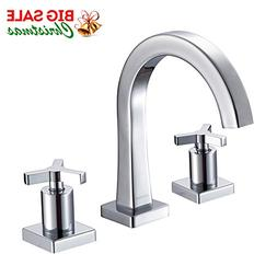 JOMOO 8 Inch Widespread Bathroom Faucet 3 Hole Two Handle De
