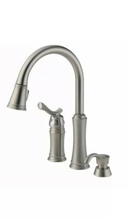 New Delta Lakeview Pull-Down Kitchen Faucet & Soap Dispenser