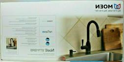Moen Noell  Handle Pull-Down Sprayer Kitchen Faucet Mediterr