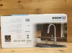 MOEN Noell Single-Handle Pull-Down Sprayer Kitchen Faucet wi