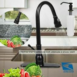 Oil Rubbed Bronze Faucet Pull-Out Kitchen Sink Spray Swivel