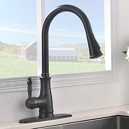 VAPSINT Oil Rubbed Bronze Pull-Down Pull Out Sprayer Kitchen