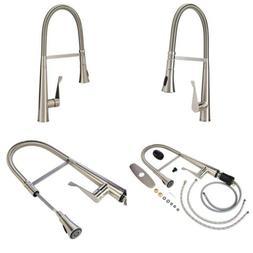 AmazonBasics Pro-Style Flexible Sprayer Kitchen Faucet - Sat