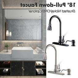 Pull Down Kitchen Sink Faucet with Soap Dispenser Home Resta
