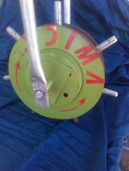 ROLL-AERATOR Lawn Aerator. double-disk. strong punch. AN AWE