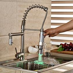 Rozin Deck Mount Single Hole Kitchen Sink Faucet LED Light P