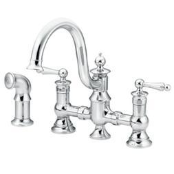 Moen S713 Waterhill Two-Handle High-Arc Kitchen Faucet, Chro