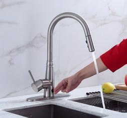 Sensor Kitchen Faucet Touch Motion Automatic Pull Spray Sink