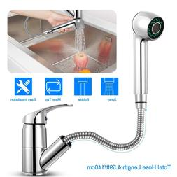 Pull-Out Spray Kitchen Faucet Swivel Spout Sink Single Handl