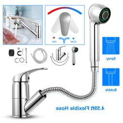 Single Hand Pull Out Spray Sink Kitchen Faucet Zinc Alloy Mi