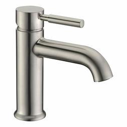 Avola Single Handle Bathroom Sink Faucet Lead Free Solid Sol