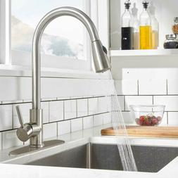 single handle high arc brushed nickel kitchen