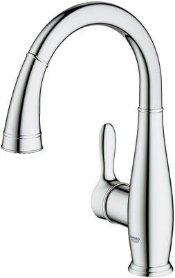 Single Handle Pull Down Sprayer Kitchen Faucet with Dual Spr