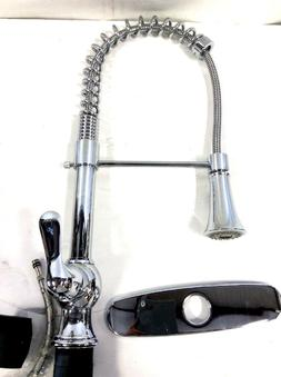Vapsint Single Handle Stainless Steel Pre Rinse Pull Out Spr