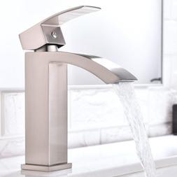 single handle waterfall bathroom vanity