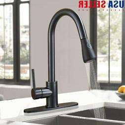 Stainless Kitchen Sink Faucet Pull Down Sprayer Single Handl
