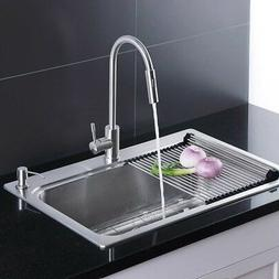 Afa Stainless Single Bowl 33 Dual Mount Kitchen Sink And Fa