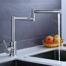 Stainless Steel Kitchen Faucet Pull Out Sprayer Single Hole