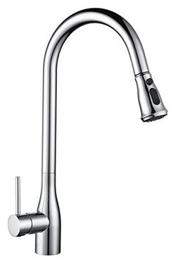 TUTUMU Stainless Steel Single Handle Kitchen Sink Faucet wit