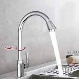 Stainless Steel Single Lever 360  Rotation Spout Kitchen Hom