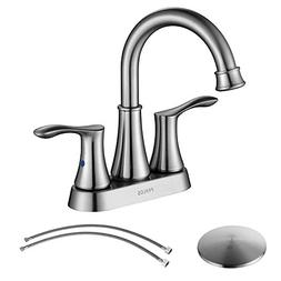 PARLOS Swivel Spout 2-handle Lavatory Faucet Brushed Nickel